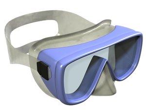 3d model goggles snorkeling