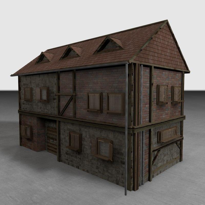 old house 3d c4d