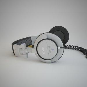 sony mdr-v700 headphones 3d model