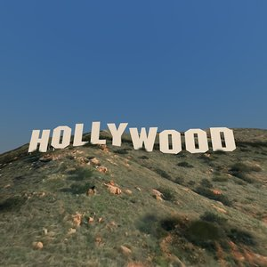 3d realistic hollywood sign