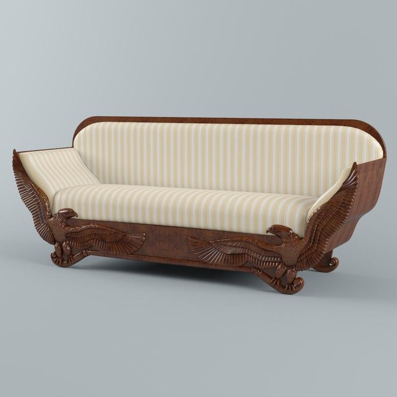 3d model empire sofa