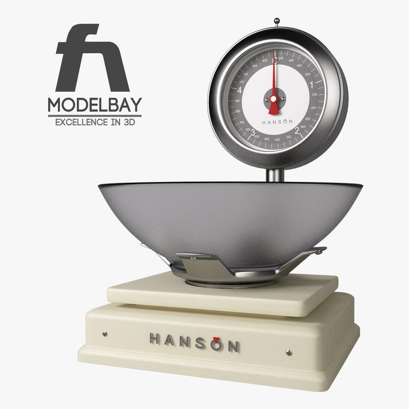 hanson scales 3d max
