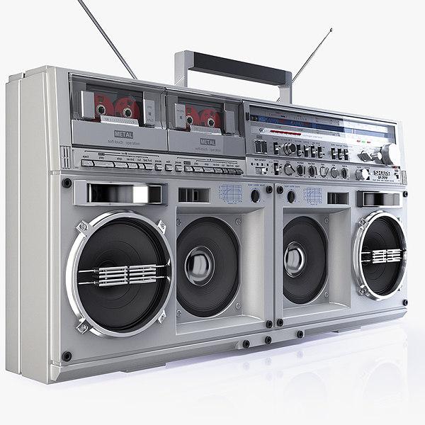 legend boombox sharp gf 3d model