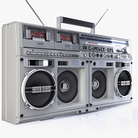 legend boombox sharp gf 3d model