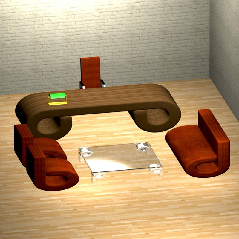 office sofa 3d obj