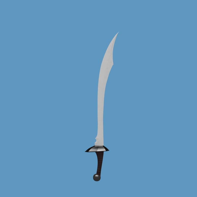 3d scimitar sword model