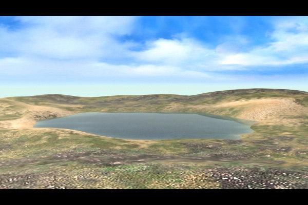 3d terrain lake