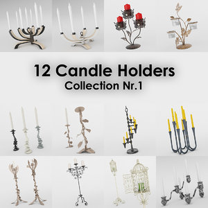 12 candle holder 3ds