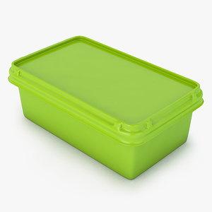 3d margarine box