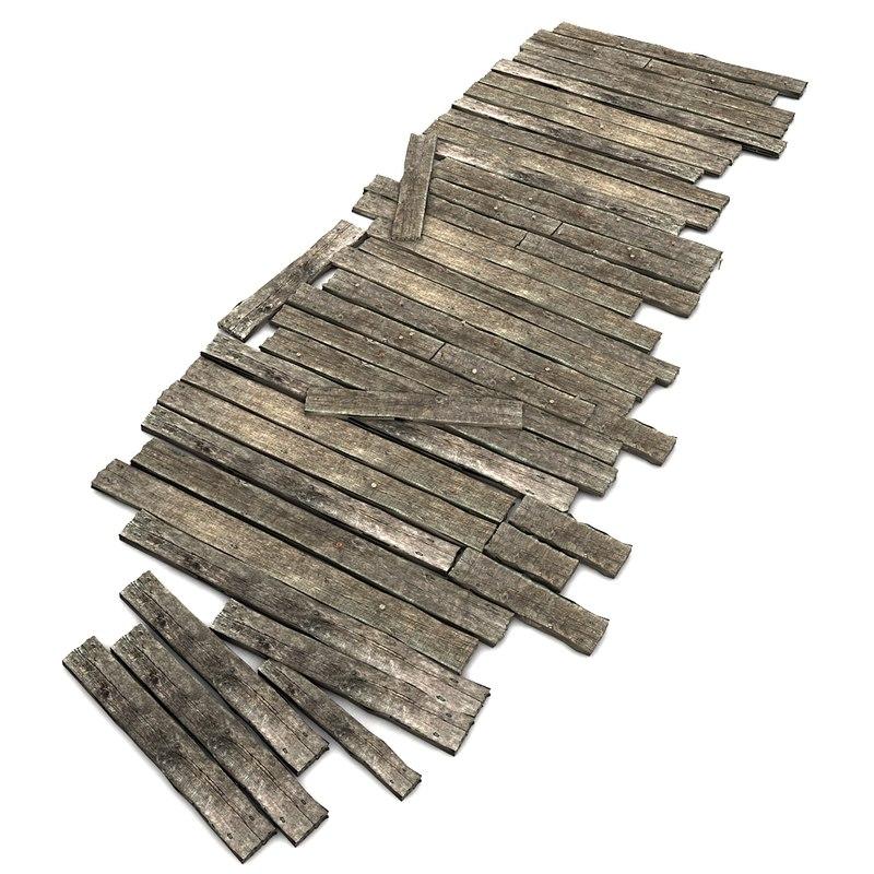 wood wooden floor 3d model