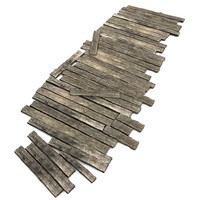 wood wooden floor 3d model