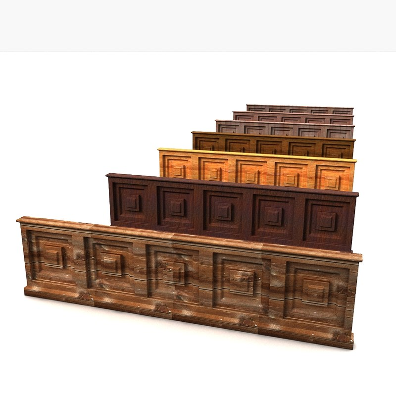 wall wood panel 3d model