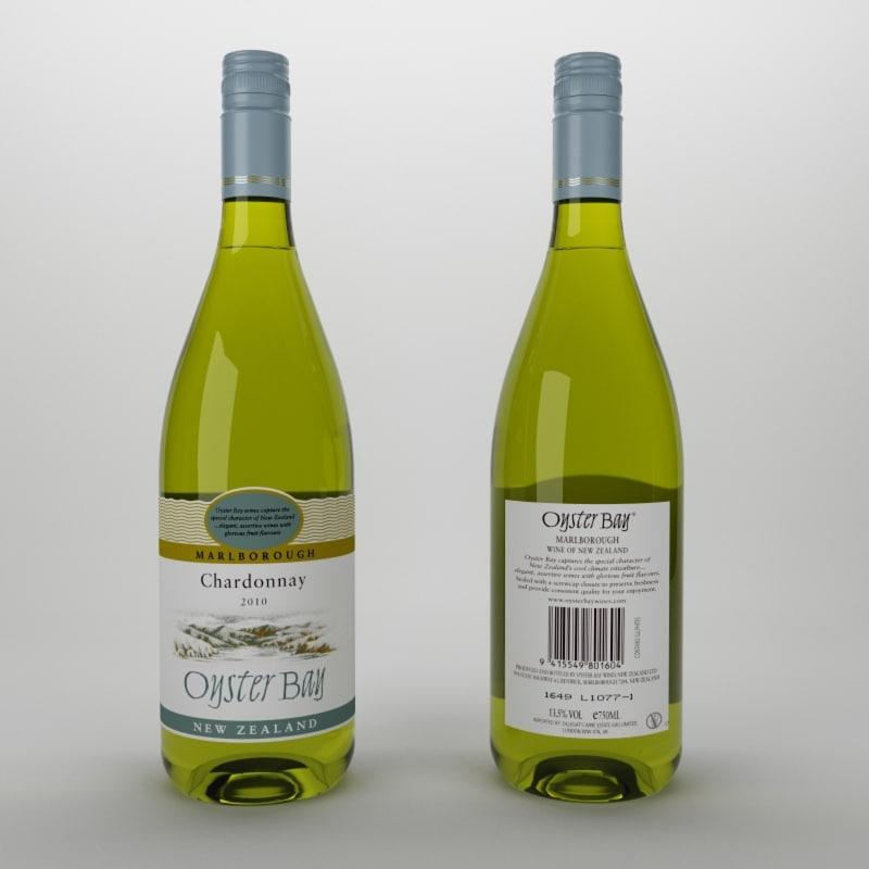 3d model white wine