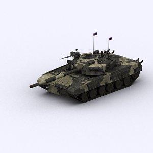 t-80u t80 tank 3d model