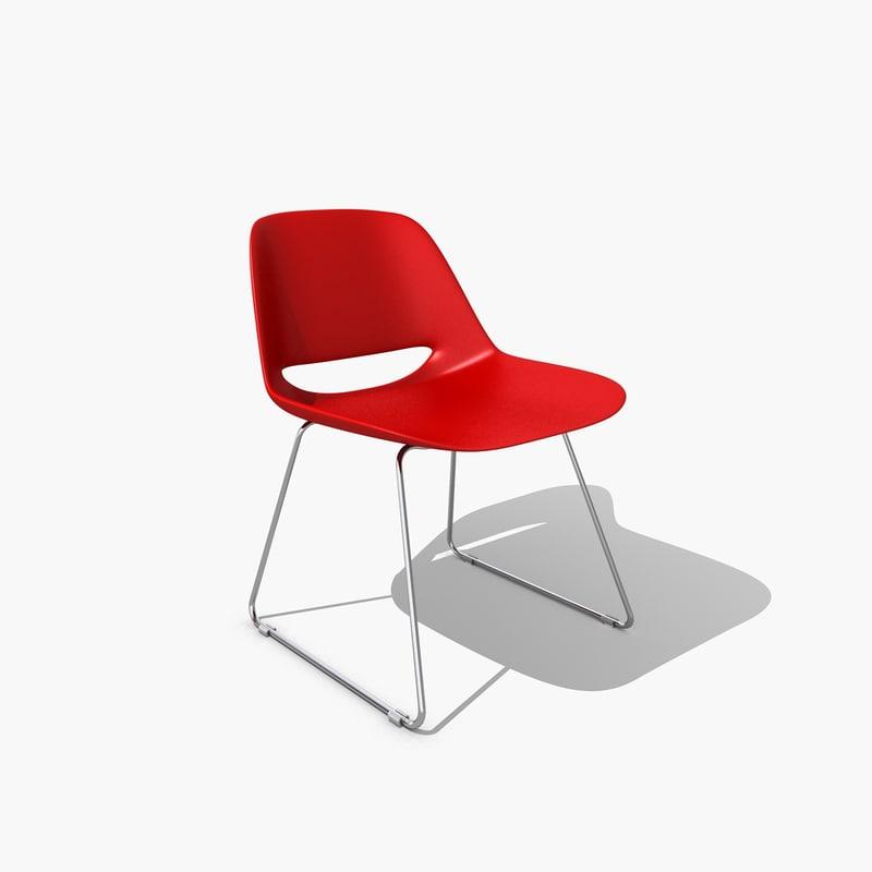3d chair palm