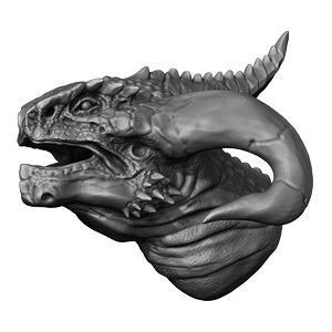 dragon head obj free