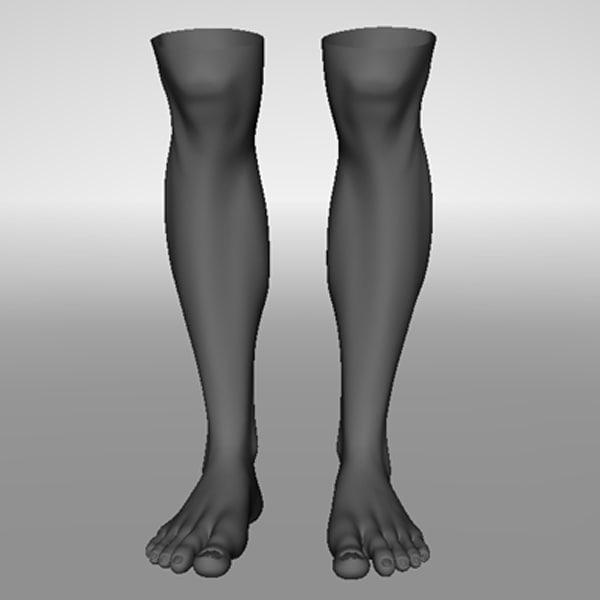 realistic human legs 3d max