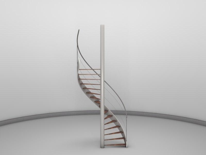 spiral staircase 3d c4d