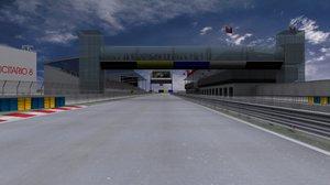 3d fantasy racing track model