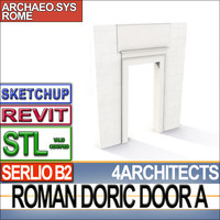 doric door stl revit dxf