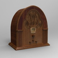 3d antique radio