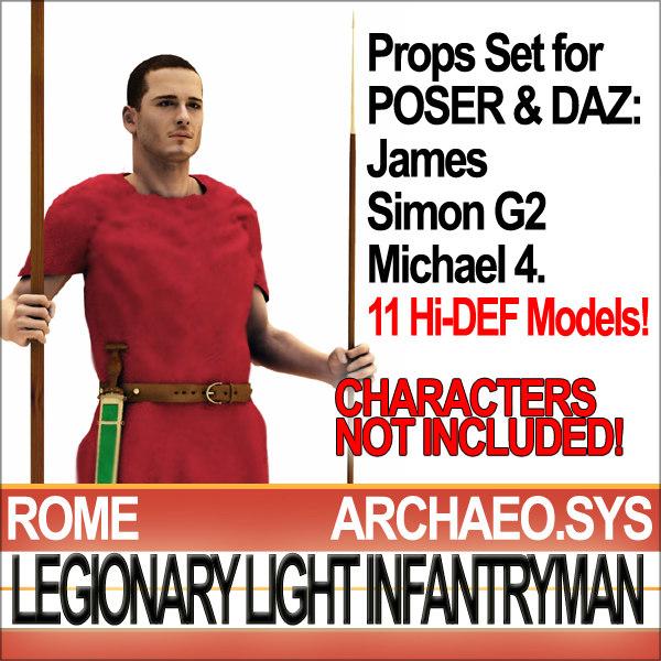 props set daz ancient rome vue