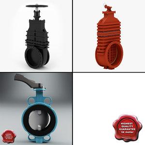 butterfly valves 3d model