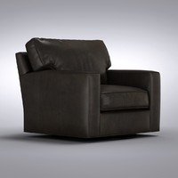 Crate and Barrel - Axis Leather Swivel Chair