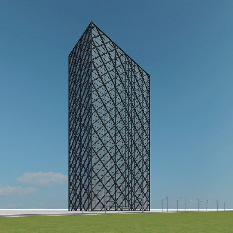 new skyscraper 86 3d max