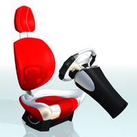 car seat 3d model