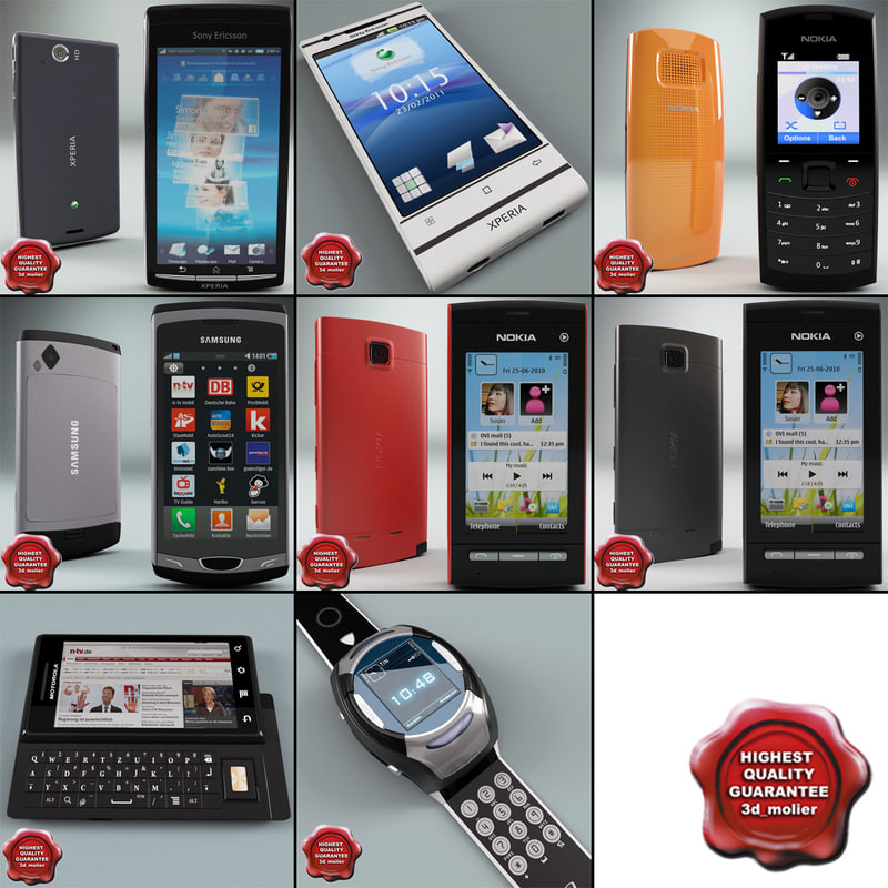 cellphones 54 mobile phone 3d max