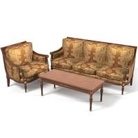 Colombo Mobili art 273  classic Sofa Arcmahir Table coffee set
