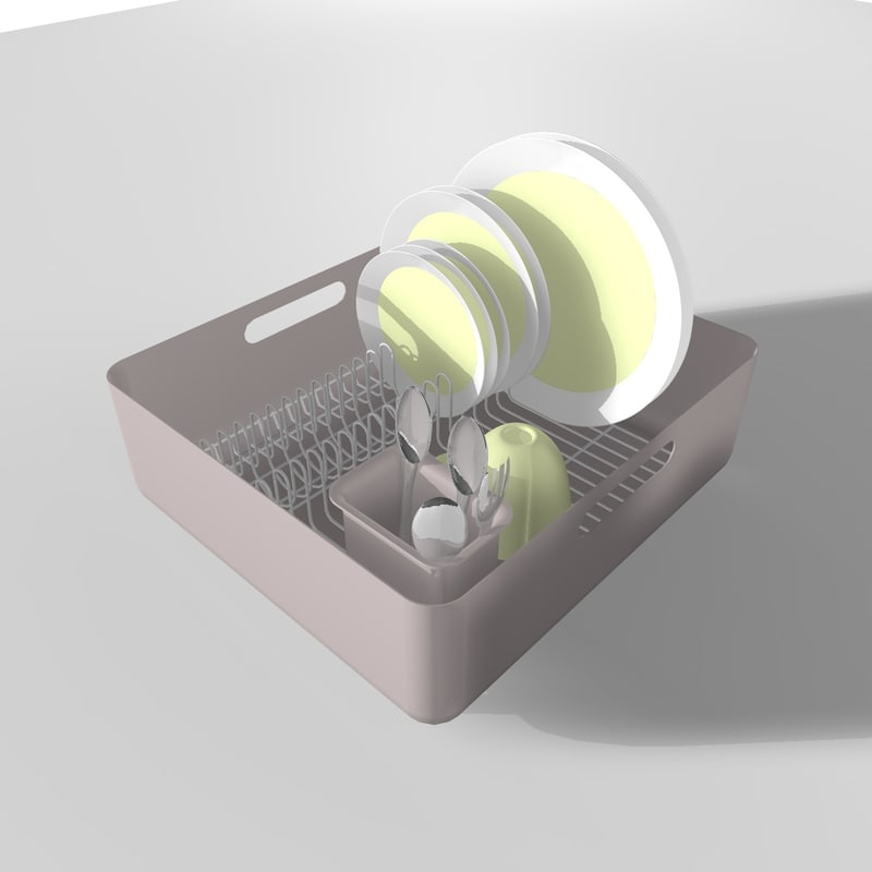 dish rack plate 3ds