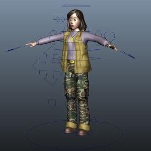 girl elly 3d model