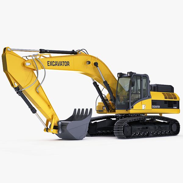 3d model hydraulic excavator names