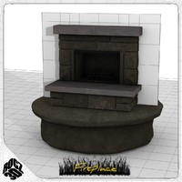 fireplace hearth obj