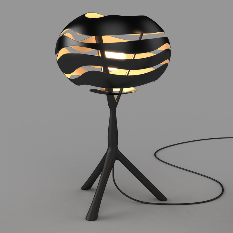 3d model of floor lamp