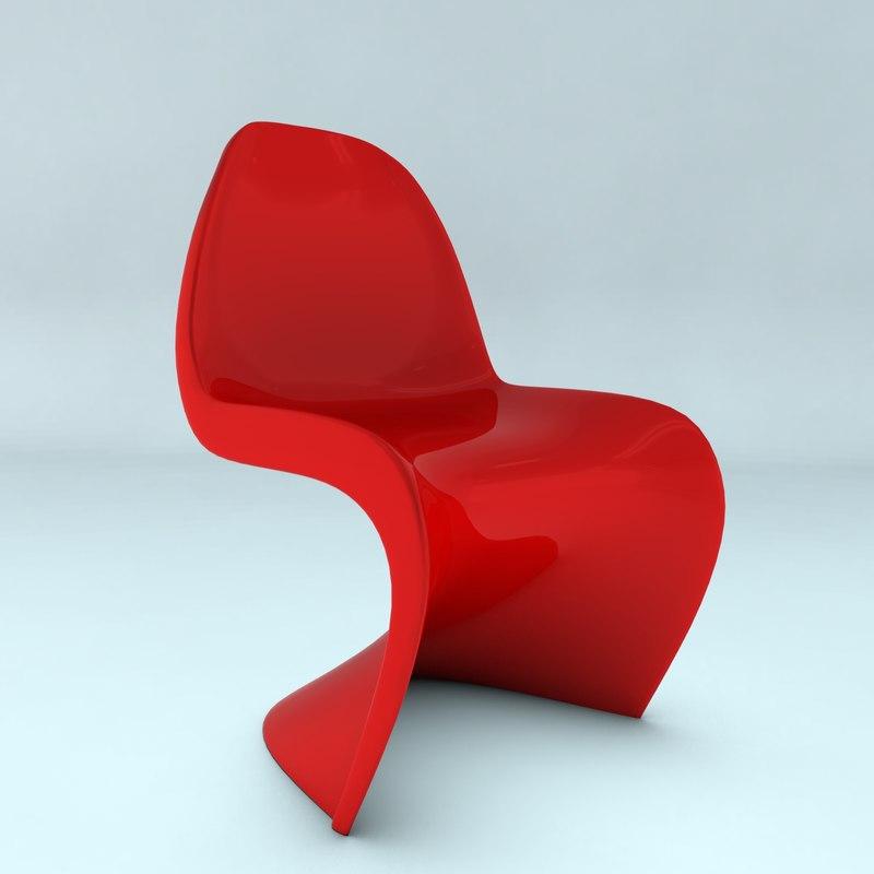 3d panton chair model