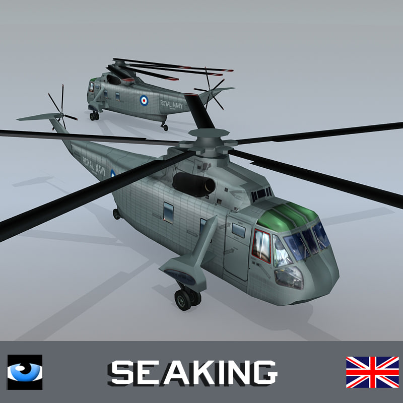 royal navy westland sea king 3d model