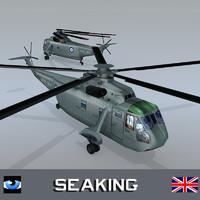 royal navy westland sea king 3d model