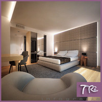 hotel bedroom interior 3d max