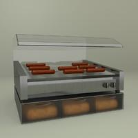 hot dog roller 3d max