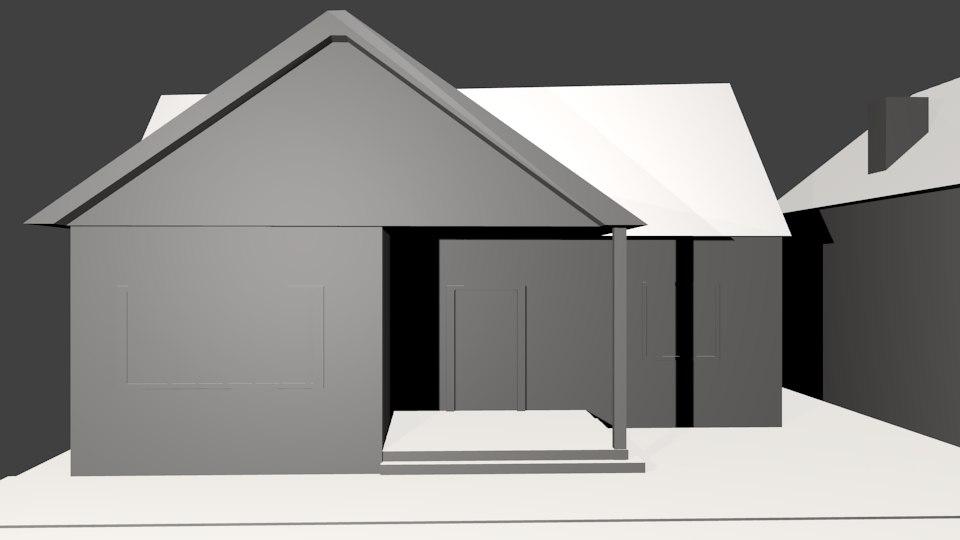 3d 10 house pack model