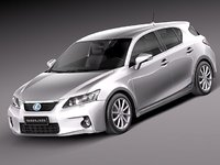 3d model lexus ct 200h 2012