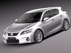3d model lexus ct 200h 2012