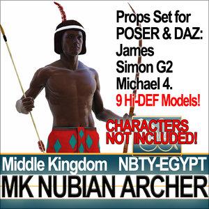 3d model of props set daz mk