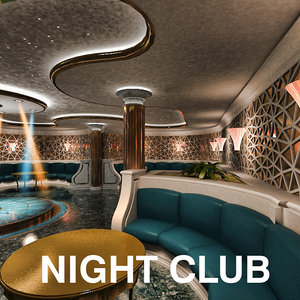 3d night club model