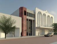 buildings facade 3d model