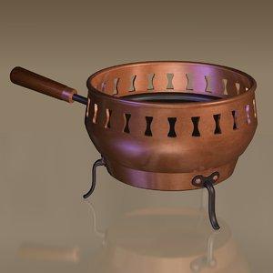 3d antique plate warmer model