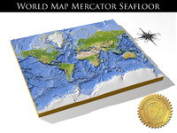WorldMercator SeaFloor, High resolution 3D relief maps